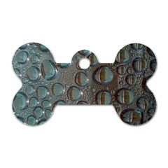 Drop Of Water Condensation Fractal Dog Tag Bone (two Sides)