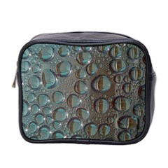 Drop Of Water Condensation Fractal Mini Toiletries Bag 2 Side by Nexatart