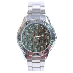 Drop Of Water Condensation Fractal Stainless Steel Analogue Watch by Nexatart