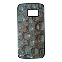 Drop Of Water Condensation Fractal Samsung Galaxy S7 Black Seamless Case by Nexatart
