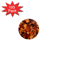 Fall Foliage Autumn Leaves October 1  Mini Magnets (100 Pack)