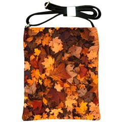Fall Foliage Autumn Leaves October Shoulder Sling Bags by Nexatart