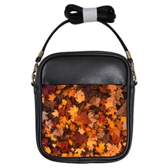 Fall Foliage Autumn Leaves October Girls Sling Bags by Nexatart
