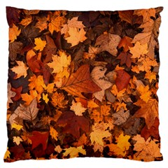 Fall Foliage Autumn Leaves October Large Cushion Case (two Sides) by Nexatart