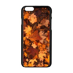 Fall Foliage Autumn Leaves October Apple Iphone 6/6s Black Enamel Case by Nexatart