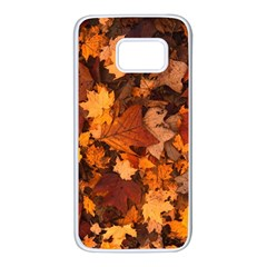 Fall Foliage Autumn Leaves October Samsung Galaxy S7 White Seamless Case
