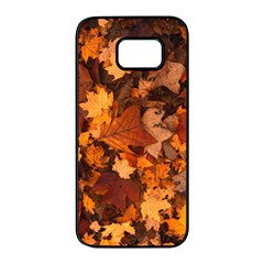 Fall Foliage Autumn Leaves October Samsung Galaxy S7 Edge Black Seamless Case
