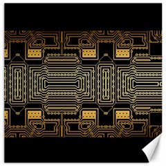 Board Digitization Circuits Canvas 16  X 16   by Nexatart