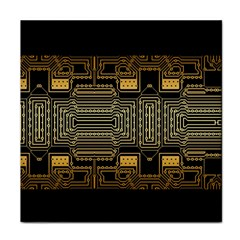 Board Digitization Circuits Face Towel by Nexatart