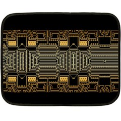 Board Digitization Circuits Double Sided Fleece Blanket (mini)