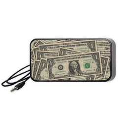 Dollar Currency Money Us Dollar Portable Speaker (black) by Nexatart