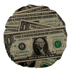 Dollar Currency Money Us Dollar Large 18  Premium Round Cushions by Nexatart