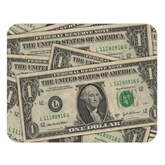 Dollar Currency Money Us Dollar Double Sided Flano Blanket (large)  by Nexatart