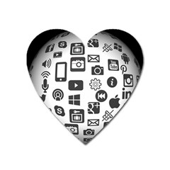 Icon Ball Logo Google Networking Heart Magnet by Nexatart
