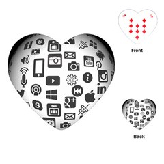 Icon Ball Logo Google Networking Playing Cards (heart)