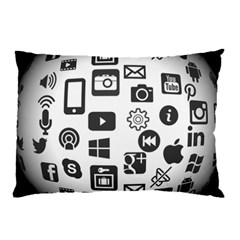 Icon Ball Logo Google Networking Pillow Case