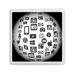 Icon Ball Logo Google Networking Memory Card Reader (square)