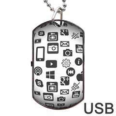 Icon Ball Logo Google Networking Dog Tag Usb Flash (one Side) by Nexatart