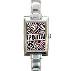 Important Stamp Imprint Rectangle Italian Charm Watch