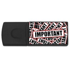 Important Stamp Imprint Rectangular Usb Flash Drive
