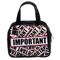 Important Stamp Imprint Classic Handbags (2 Sides)