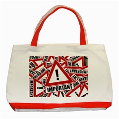 Important Stamp Imprint Classic Tote Bag (red)
