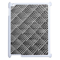 Grid Wire Mesh Stainless Rods Apple Ipad 2 Case (white) by Nexatart