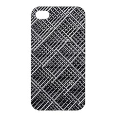 Grid Wire Mesh Stainless Rods Apple Iphone 4/4s Premium Hardshell Case by Nexatart