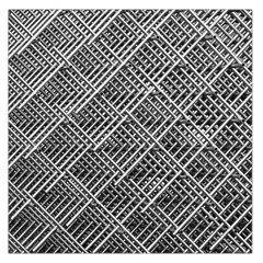 Grid Wire Mesh Stainless Rods Large Satin Scarf (square)