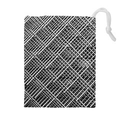 Grid Wire Mesh Stainless Rods Drawstring Pouches (extra Large)