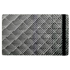 Grid Wire Mesh Stainless Rods Apple Ipad Pro 9 7   Flip Case by Nexatart