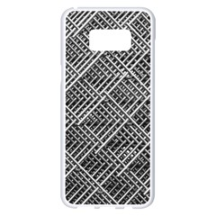 Grid Wire Mesh Stainless Rods Samsung Galaxy S8 Plus White Seamless Case