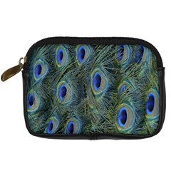 Peacock Feathers Blue Bird Nature Digital Camera Cases by Nexatart