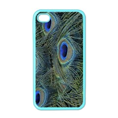 Peacock Feathers Blue Bird Nature Apple Iphone 4 Case (color) by Nexatart