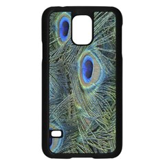Peacock Feathers Blue Bird Nature Samsung Galaxy S5 Case (black) by Nexatart