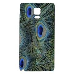 Peacock Feathers Blue Bird Nature Galaxy Note 4 Back Case