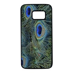 Peacock Feathers Blue Bird Nature Samsung Galaxy S7 Black Seamless Case
