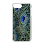 Peacock Feathers Blue Bird Nature Apple iPhone 7 Plus White Seamless Case Front
