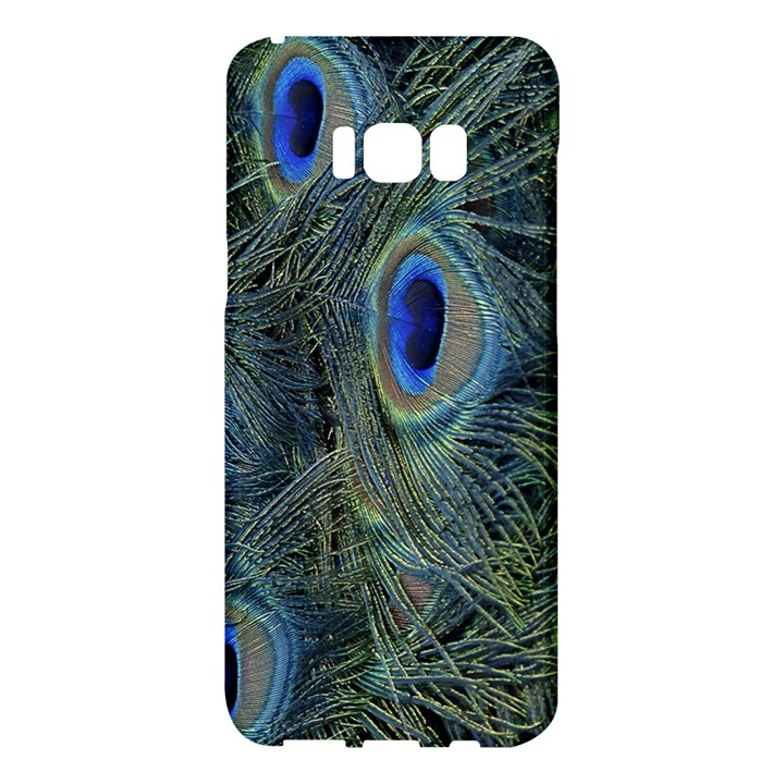 Peacock Feathers Blue Bird Nature Samsung Galaxy S8 Plus Hardshell Case