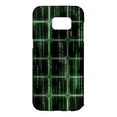 Matrix Earth Global International Samsung Galaxy S7 Edge Hardshell Case by Nexatart