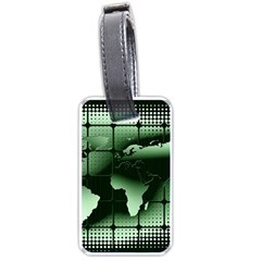 Matrix Earth Global International Luggage Tags (one Side)  by Nexatart