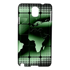 Matrix Earth Global International Samsung Galaxy Note 3 N9005 Hardshell Case by Nexatart