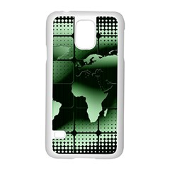 Matrix Earth Global International Samsung Galaxy S5 Case (white) by Nexatart