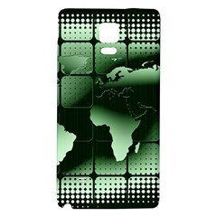 Matrix Earth Global International Galaxy Note 4 Back Case by Nexatart