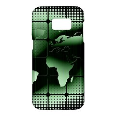 Matrix Earth Global International Samsung Galaxy S7 Hardshell Case  by Nexatart