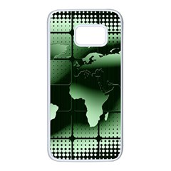 Matrix Earth Global International Samsung Galaxy S7 White Seamless Case by Nexatart