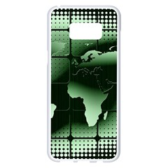 Matrix Earth Global International Samsung Galaxy S8 Plus White Seamless Case by Nexatart