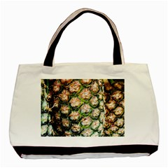 Pineapple Texture Macro Pattern Basic Tote Bag by Nexatart