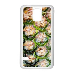 Pineapple Texture Macro Pattern Samsung Galaxy S5 Case (white) by Nexatart