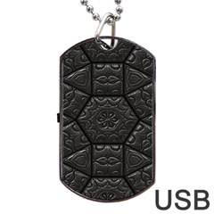 Tile Emboss Luxury Artwork Depth Dog Tag Usb Flash (two Sides) by Nexatart